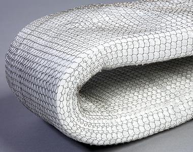 Keramikfaser in Drahtgeflecht